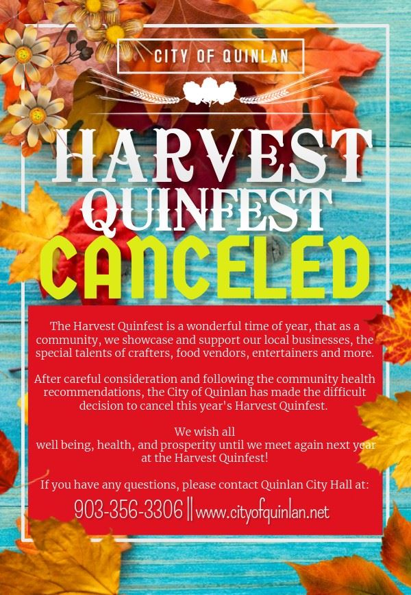 Harvest Quinfest Canceled